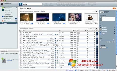 Snimak zaslona Vuze Windows 7
