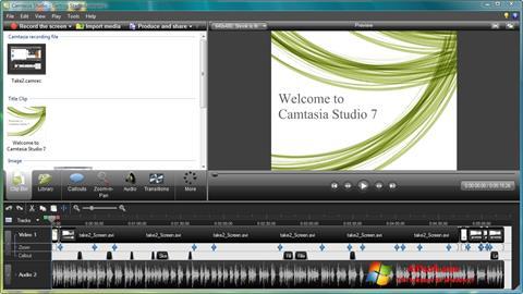 Snimak zaslona Camtasia Studio Windows 7