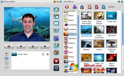 Snimak zaslona WebcamMax Windows 7