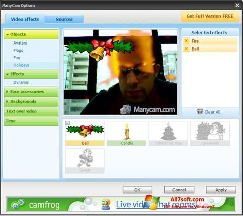 Snimak zaslona ManyCam Windows 7