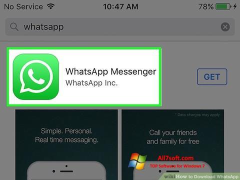 Snimak zaslona WhatsApp Windows 7