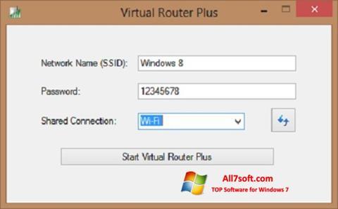 Snimak zaslona Virtual Router Plus Windows 7