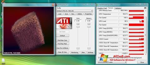 Snimak zaslona ATITool Windows 7