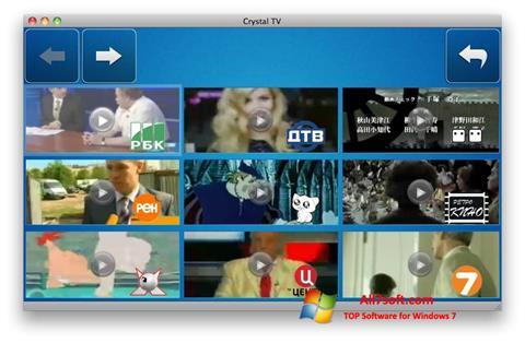 Snimak zaslona Crystal TV Windows 7