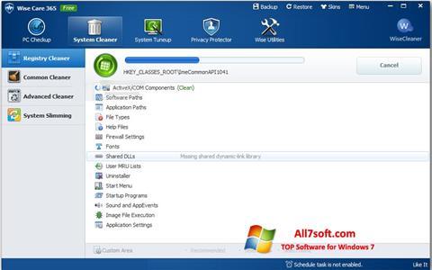 Snimak zaslona Wise Care 365 Windows 7
