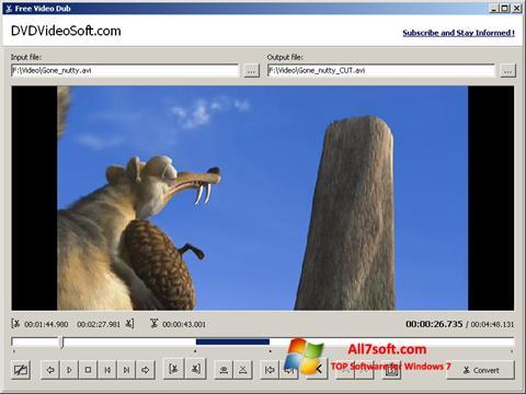 Snimak zaslona Free Video Dub Windows 7