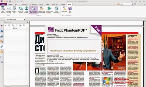 Snimak zaslona Foxit Phantom Windows 7
