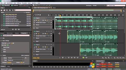 Snimak zaslona Adobe Audition CC Windows 7