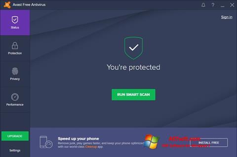 Snimak zaslona Avast Free Antivirus Windows 7