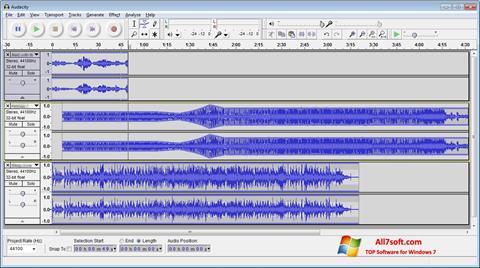Snimak zaslona Audacity Windows 7