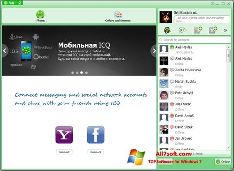 Snimak zaslona ICQ Windows 7