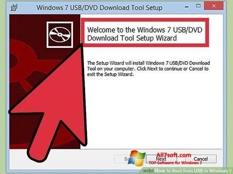 Snimak zaslona Windows 7 USB DVD Download Tool Windows 7