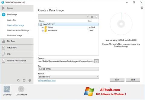 Snimak zaslona DAEMON Tools Lite Windows 7