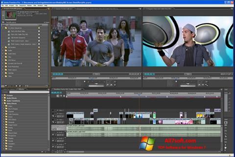 Snimak zaslona Adobe Premiere Pro Windows 7