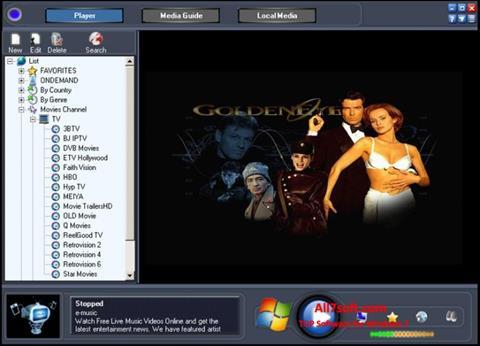 Snimak zaslona Online TV Live Windows 7