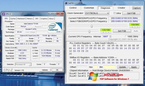 Snimak zaslona SetFSB Windows 7