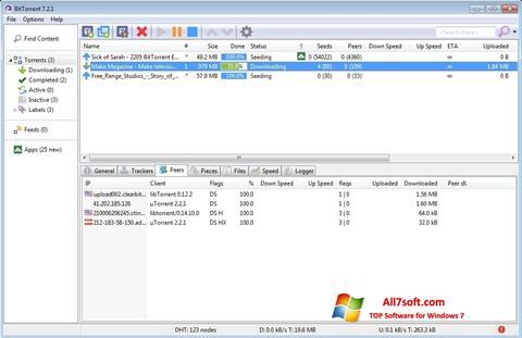 Snimak zaslona BitTorrent Windows 7