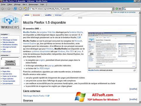 Snimak zaslona Mozilla Firefox Windows 7