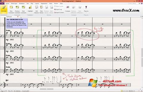 Snimak zaslona Sibelius Windows 7