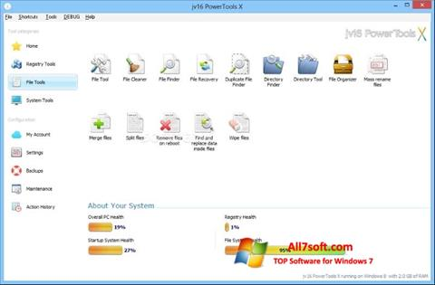 Snimak zaslona jv16 PowerTools Windows 7