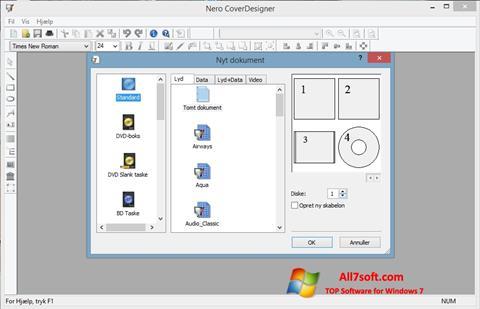 Snimak zaslona Nero Cover Designer Windows 7