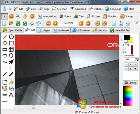 Snimak zaslona PDF Reader Windows 7
