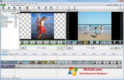 Snimak zaslona VideoPad Video Editor Windows 7