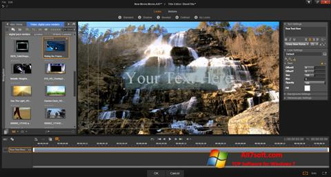 Snimak zaslona Pinnacle Studio Windows 7