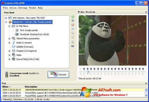 Snimak zaslona ConvertXToDVD Windows 7