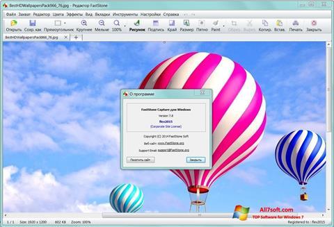 Snimak zaslona FastStone Capture Windows 7