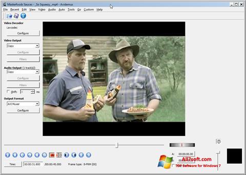 Snimak zaslona Avidemux Windows 7