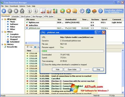 Snimak zaslona Download Master Windows 7