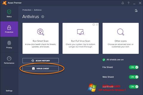 Snimak zaslona Avast Windows 7