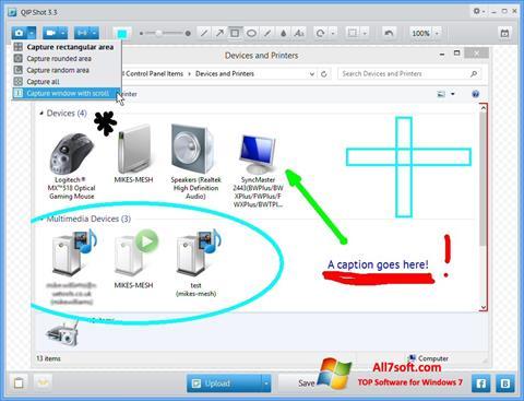 Snimak zaslona QIP Windows 7