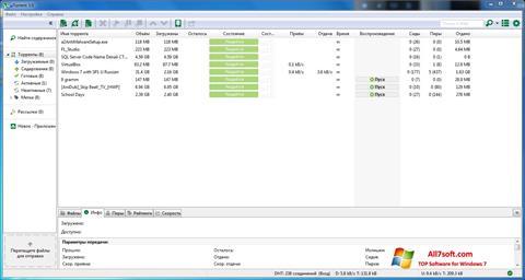 Snimak zaslona uTorrent Windows 7