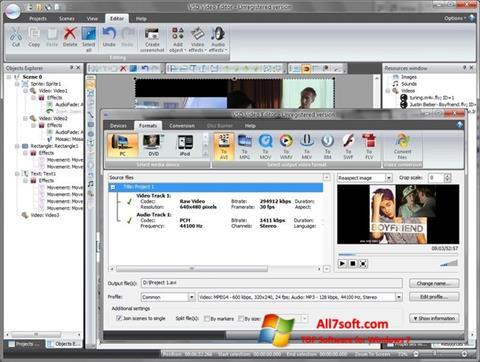 Snimak zaslona Free Video Editor Windows 7