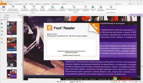 Snimak zaslona Foxit Reader Windows 7