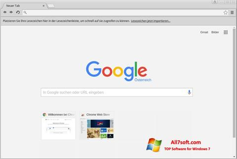 Snimak zaslona Google Chrome Windows 7