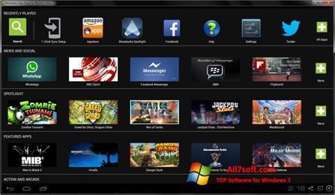 Snimak zaslona BlueStacks Windows 7