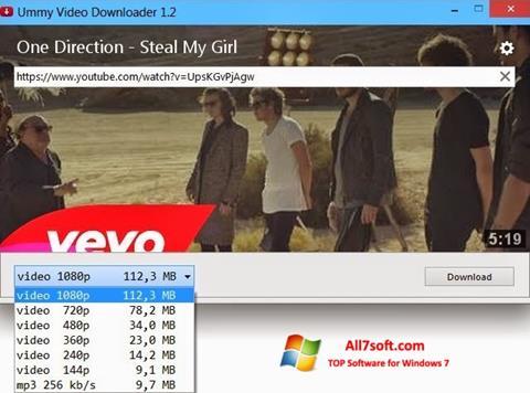 Snimak zaslona Ummy Video Downloader Windows 7