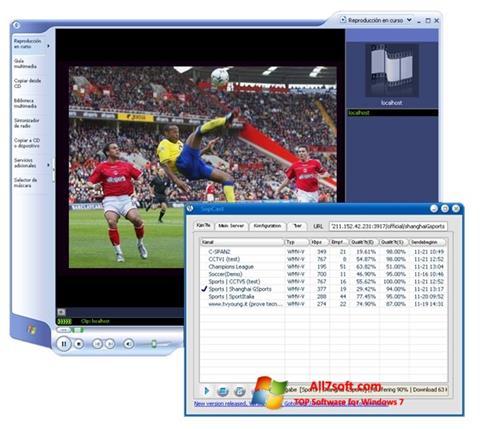 Snimak zaslona SopCast Windows 7