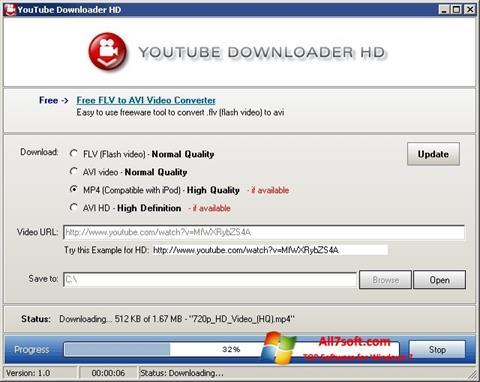 Snimak zaslona Youtube Downloader HD Windows 7