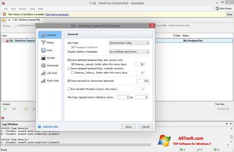 Snimak zaslona GoodSync Windows 7