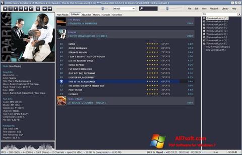 Snimak zaslona Foobar2000 Windows 7