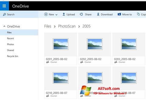 Snimak zaslona OneDrive Windows 7