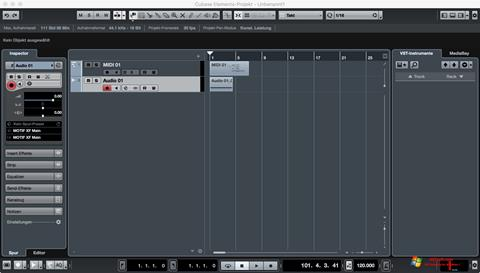 Snimak zaslona Cubase Windows 7