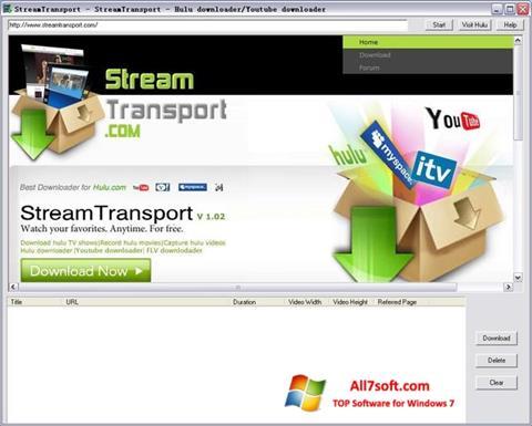 Snimak zaslona StreamTransport Windows 7