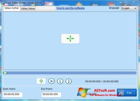 Snimak zaslona Free Video Cutter Windows 7