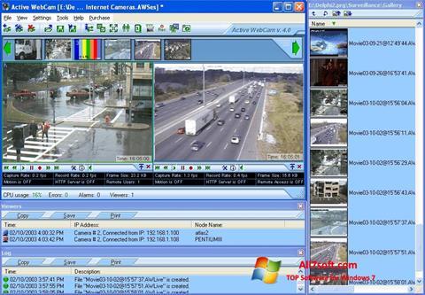 Snimak zaslona Active WebCam Windows 7