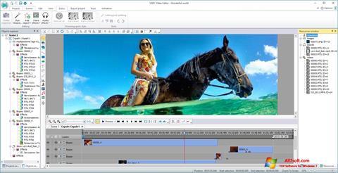 Snimak zaslona VSDC Free Video Editor Windows 7